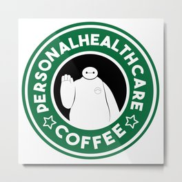 Personal Healthcare Coffee Metal Print