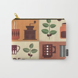 Retro Coffee Art Poster Carry-All Pouch