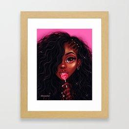 sucka for love Framed Art Print