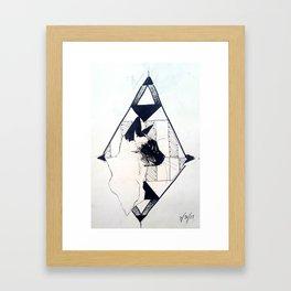 Cat Triangle Framed Art Print