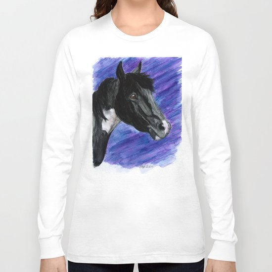 Watercolor Paint Horse Long Sleeve T-shirt