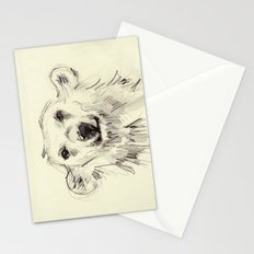 Polar Bear Smiling Black and White Stationery Cards