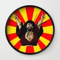 satan Wall Clocks featuring Mr Satan by husavendaczek