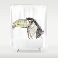 toucan Shower Curtains featuring Toucan by Ursula Rodgers