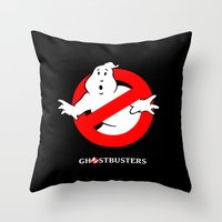 ghostbusters Throw Pillows featuring Ghostbusters by IIIIHiveIIII