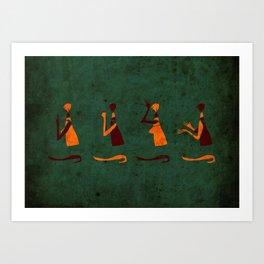 Forms of Prayer - Green Art Print