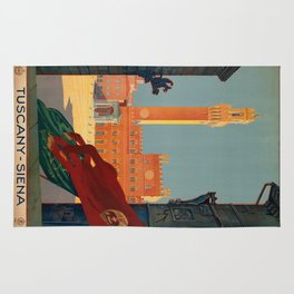 Vintage poster - Tuscany-Siena Rug