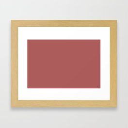 PANTONE 18-1630 Dusty Cedar Framed Art Print