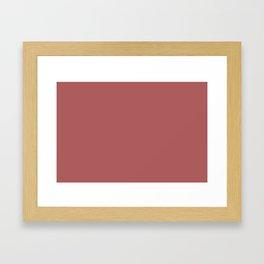 PANTONE 18-1630 Dusty Cedar Framed Art Print