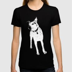 Jack Russell Terrior Black MEDIUM Womens Fitted Tee