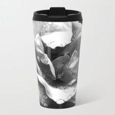 Morning Rose - greyscale version Metal Travel Mug