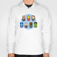 avenger Hoodies featuring Pixel Art - Avenger parody by Cloudsfactory