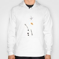 olaf Hoodies featuring Olaf, Frozen by carolam