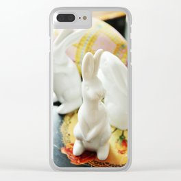 Easter bunny still life Clear iPhone Case