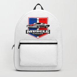 Muscle Car Garage Backpack