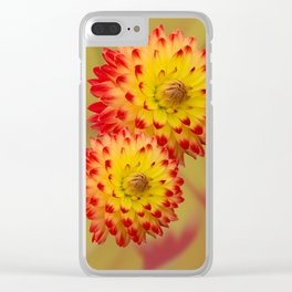 Dahlia Abstract Clear iPhone Case
