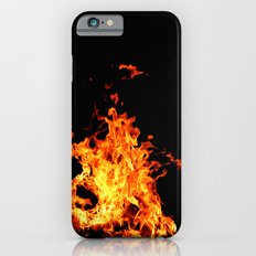 Fire Element Flames Bold Orange Red Yellow Brilliant Color Modern Art Photography Slim Case iPhone 6s