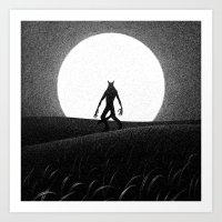 Drawlloween 2016: Werewolf Art Print