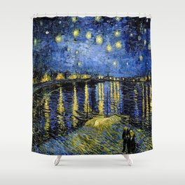 Vincent Van Gogh Starry Night Shower Curtain