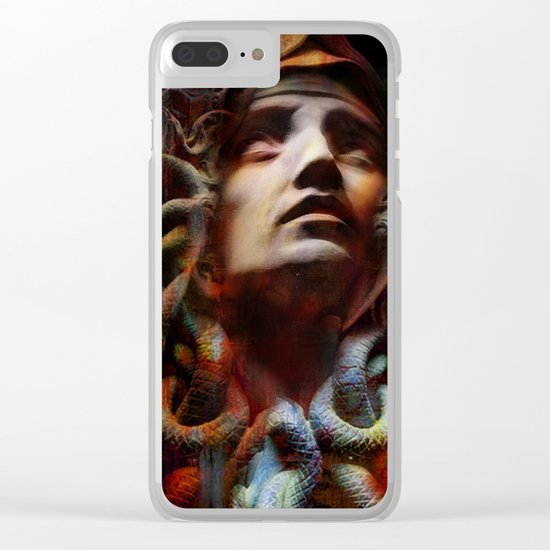The last moments of Medusa Clear iPhone Case