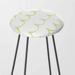 Citron Green Waves Counter Stool