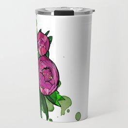 Peony flowers Travel Mug