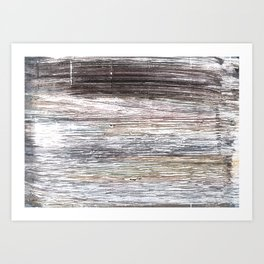 Gray abstract watercolor Art Print