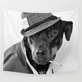 The Reporter - Rotweiler Dog Wall Tapestry