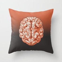 Puzzle brain GINGER / Your brain on puzzles Throw Pillow