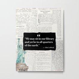 John Lubbock Statue of liberty vers Metal Print