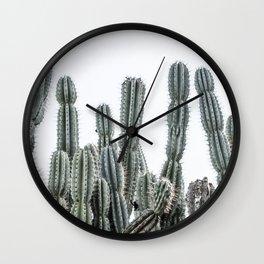 Minimalist Cactus Wall Clock