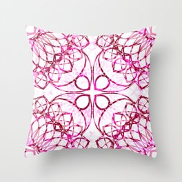 Pink Boho Chic Pattern Throw Pillow