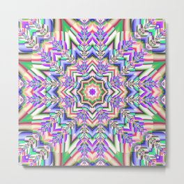 Colourful Kaleidoscope Metal Print