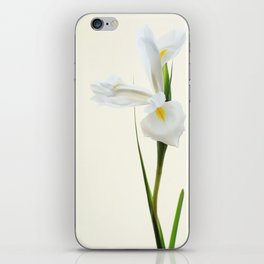 Tall White Iris Flower iPhone Skin