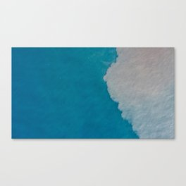 Ocean Wave Aerial Photography Canvas Print
