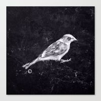 sparrow Canvas Prints featuring Sparrow by Adam Dunt