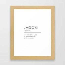 Lagom Definition Framed Art Print
