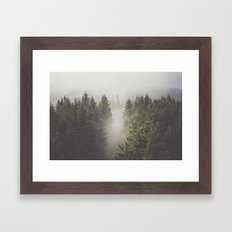 My misty way Framed Art Print