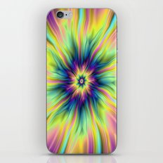 Combustion in Yellow Turquoise and Blue iPhone & iPod Skin
