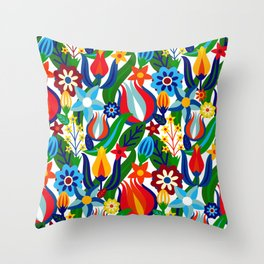 Turkish garden Throw Pillow