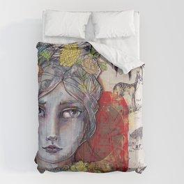 Nature Study by Jane Davenport Comforters