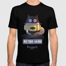 Retro Hero MEDIUM Black Mens Fitted Tee
