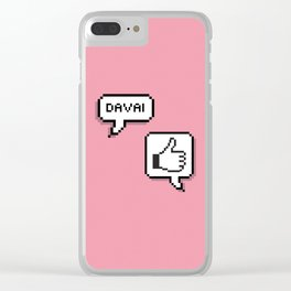 Davai! Clear iPhone Case