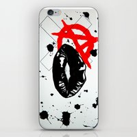 anarchy iPhone & iPod Skins featuring Anarchy by Mike Lampkin
