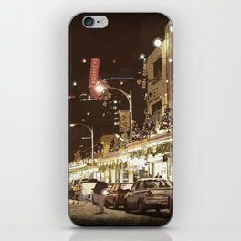 Glowing Market iPhone Skin