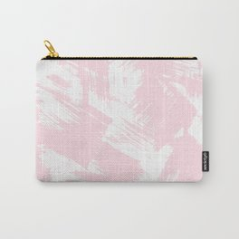 Blush pink white modern watercolor brushstrokes Carry-All Pouch