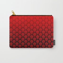 Black and Red Pentagram Damask Pattern Carry-All Pouch