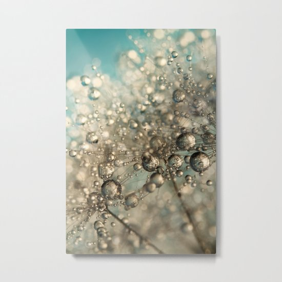 Metal Blue Dandy Sparkle Metal Print