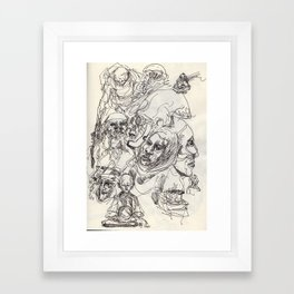 Heads Framed Art Print