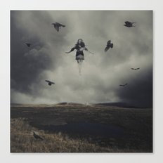 With the Blackbirds Canvas Print